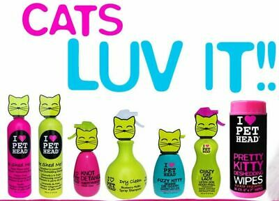 Pet Head Shampoo Conditioner Rinse Spray Wipes Mousse Cat Kitten Grooming