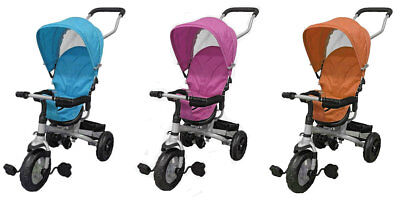 Kids Baby 4 in 1 Trike Tricycle 3 Wheel Stroller Buggy Ride Parent Bar Push Bike