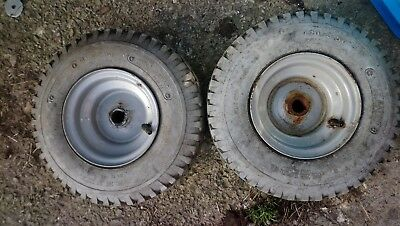 2 x Mobility Scooter Wheel / Tyre 410 350 5 totrod toylander project pair