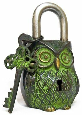 Owl Shaped Brass Lock Antique Handcrafted Locks