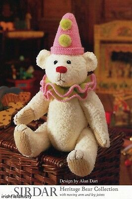 Alan Dart Heritage **bear Bertram** Knitting Pattern With Moving Arms & Legs