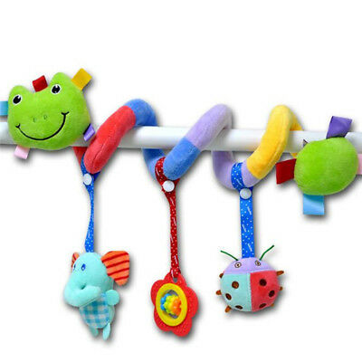 Spiral Soft Infant Crib Bed Stroller Toy Baby Car Hanging Bell Rattles 6A