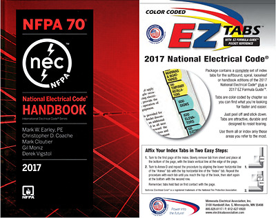 National Electrical Code (NEC) Handbook with Color Coded EZ Tabs, 2017 Editions