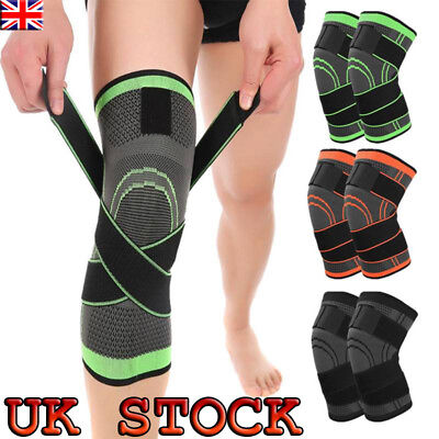 3D Weaving Knee Brace Breathable Support Running Jogging Sports Joint Pain S-XXL