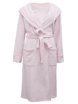 Eex Marks & Spencer Super Soft Luxury Hooded Dressing Gown Robe Size 8-22 Ex M&S