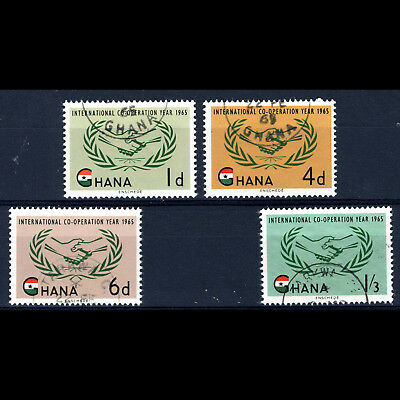 GHANA 1965 ICY. 4 Values. SG 365-368. Fine Used. (AF038)