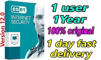 ESET Internet Security 2019 - 01 PC/1 Year ( 365 days ) / 1 PC 01 Full