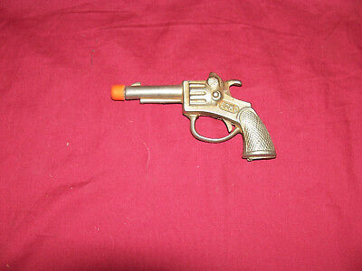ANTIQUE ECHO USA Toy Cap Gun Pistol Diecast Metal Old Vintage Cowboy  Western Kid