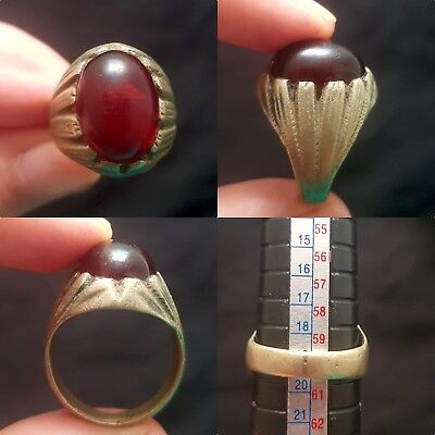Old medieval carnelian stone wonderful unique ring