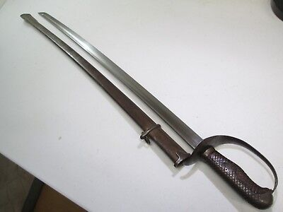Russo Japanese Cavalry Sword With Matching Numbers On The Blade To The Scabbard