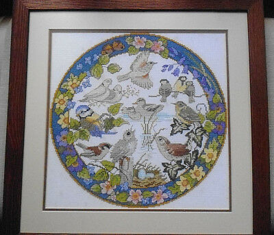 Hand Sewn Needlepoint Tapestry in Frame- Tapestry 31 x31cms - Frame 45 x 45cms