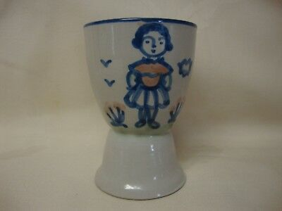 MA Hadley Pottery Farmers Daughter Egg Cup
