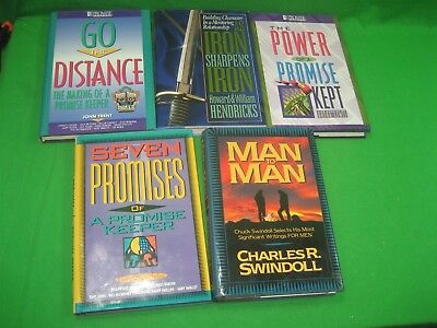 Lot of Five (5) Books The Power of A Promise Kept Go The Distance Men To Men