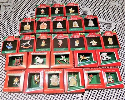 Hallmark Miniature Ornaments Lot of 26, Partial and Complete series