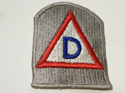 A  WW 2 U S Army 39th Division  Ribbed Cut Edge Snow Back Patch