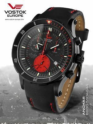 Vostok-Europe - Anchar Mens Diver Watch - Black/Red - 6S30-5104244