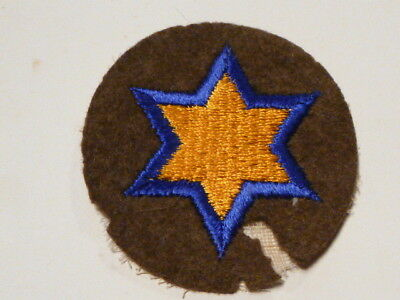 A  WW 2 U S Army 66th Cavalry Division Embroidered Felt Patch Moth Holes