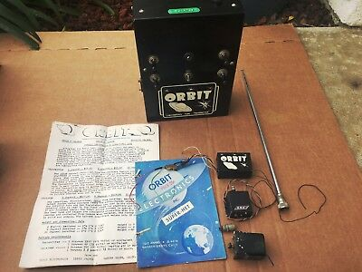 Vintage ORBIT Transmitter (with Manual & Paper), Receiver, & Servo  RC Airplane