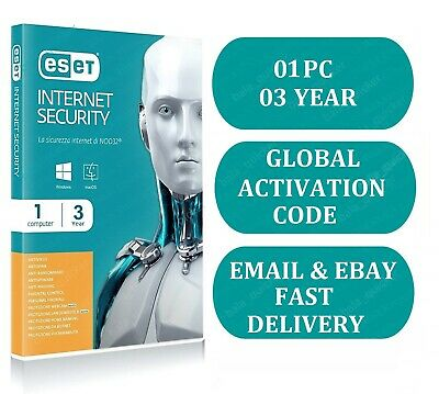 Eset Internet Security  2019 | 1 Device  | 3 Year  | Email Delivery | Esd