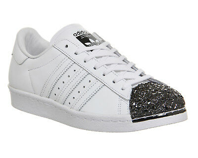 on sale 67154 ffeb8 Womens Adidas White Leather Lace Up Trainers Size UK 5  Ex-Display