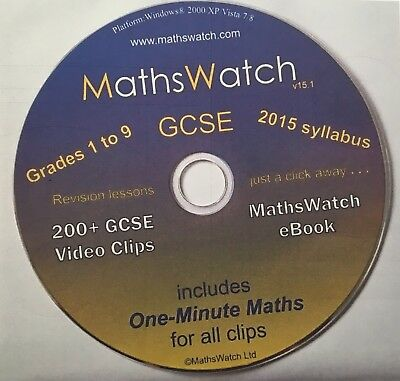 MATHSWATCH NEW GCSE grade 9-1 - All School Based Resources Copied On To 1 CD