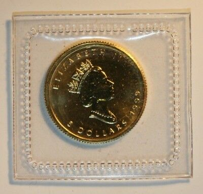 "Kanada 1999, ""20 Years Maple Leaf "", 1/10 Oz Gold (999,9/1.000), Maple Leaf"