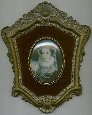 Mary Stuart by Nicholas Hilliard Cameo Creation Vintage Look Framed Picture 8x7