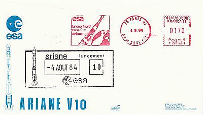 1984 - Launch ARIANE 10 - space cover from Paris