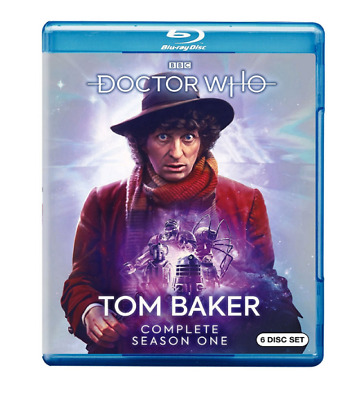 New DOCTOR WHO: Tom Baker Complete First Season Blu-ray (6 Disc, 2018) slipcover