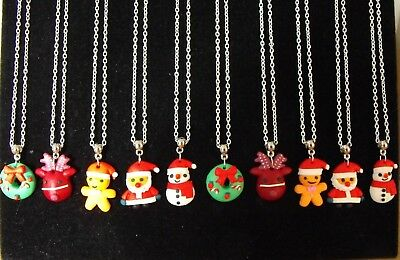 Wholesale Jewellery 10 Christmas Necklaces,gifts, Party Bags,job Lot,retail,02