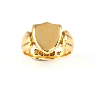 Men's Gents Victorian Solid 18Ct Gold Shield Shaped Signet Ring c 1901