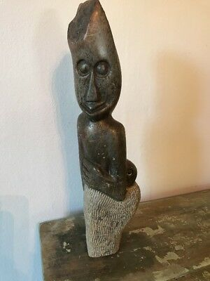"15"" tall  / 6 LB shona stone sculpture Zimbabwean/African  mother and child"