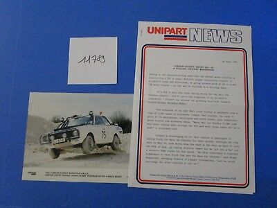 N°11789 / UNIPART NEWS London-Sydney Marathon Rallye april 1993