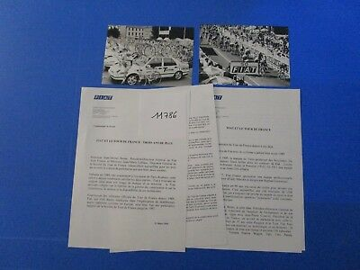 N°11786 /  FIAT et le tour de France cycliste 4 pages, 2 photos   1993-1994