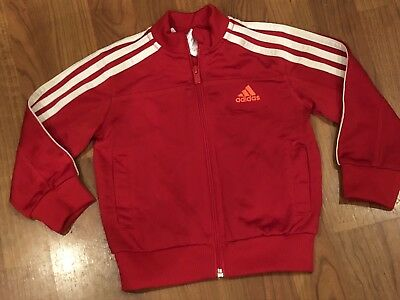 Girls Pink Adidas Zip Jacket Coat Age 18-24Mths Great Condition