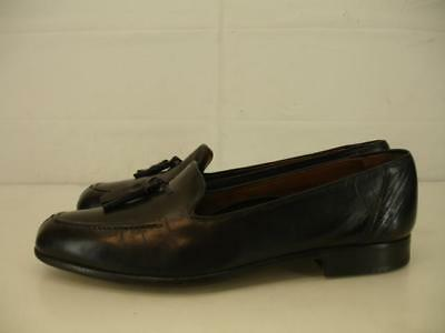 75f6f29a430 Mens sz 8.5 M Bragano Cole Haan Italy Black Leather Tassel Loafers Shoes  Slip-On