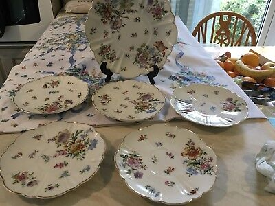 A Vintage/antique Set Of Plates~Hand Painted