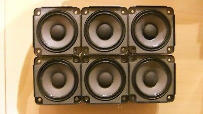 6 X Bose Drivers Loud Speakers Full Range 2.55 inch 4.6 Ohm, 30 Watts RMS