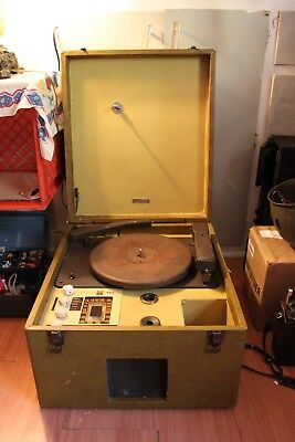 ROCK-OLA Vintage Record Cutting Lathe 1940s Portable Recorder Cutter TURNS ON!