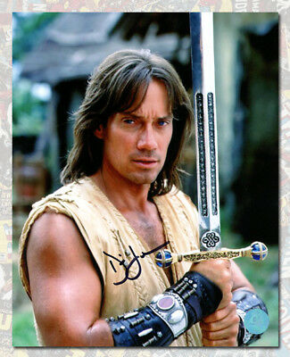Kevin Sorbo Autographed Hercules The Legendary Journeys with Sword 8x10 Photo