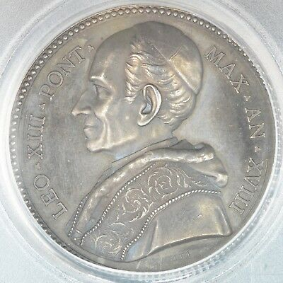 Medal 1895 PCGS SP64 Vatican Italy Silver Rinaldi-89 Choice UNC