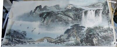 Japanese Or Chinese Paper Ink Drawing  Signed/stamped In Original Box