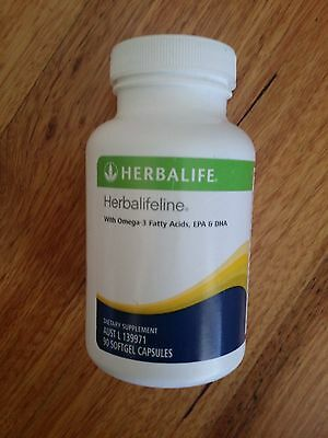 Herbalife Herbalifeline x 1 Bottle 90 Softgel Capsules  New Exp: 2/2019