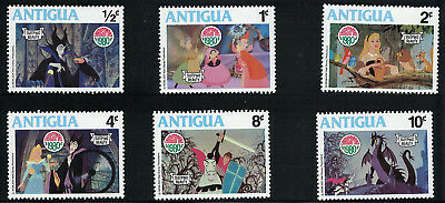 "6 Briefmarken Antigua: Disney's ""Sleeping Beauty"" (Weihnachten 1980)"