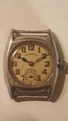 C1930/40s Chrome Plated Wrist Watch Original Condition for either spares/repair