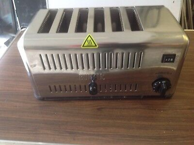 6 slot commercail toaster