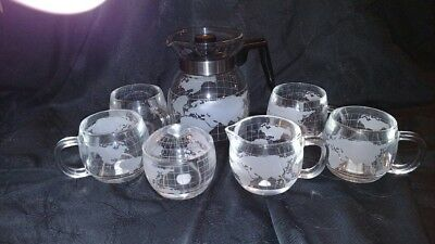 Nestle Necafe Coffee Set - World Global Map 1970's - Excellent Condition