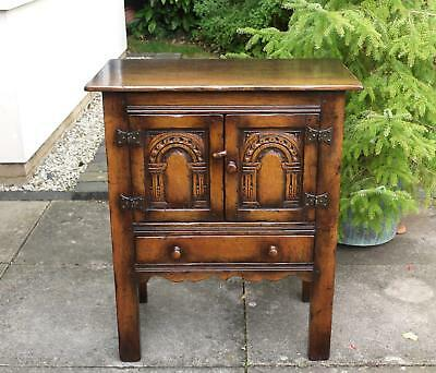 Titchmarsh & Goodwin Miniature Credence Cupboard Sideboard Hall Table Solid Oak