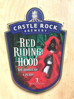 Red Riding Hood Red Blooded Ale Cask Beer Pump Clip Badge Castle Rock Brewery