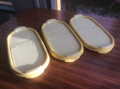 3 Tupperware Lids With Two Opening Flaps Fits Oval Space Savers See All Photos
